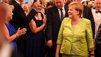 Die deutsche Kanzlerin Angela Merkel schaute sich auch am Freitagabend eine Darbietung bei den berühmten Bayreuther Festspielen in Deutschland an. (Archivbild)