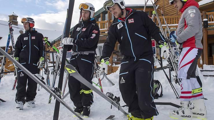 Die Speed-Spezialisten können in Lake Louise auch Donnerstag nicht trainieren (im Bild das österreichische Team)