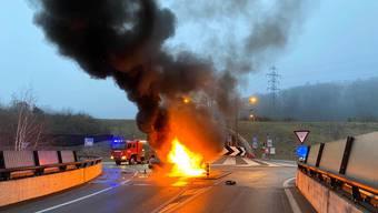 Unfall auf Staffeleggstrasse bei Küttigen