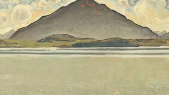 """Das Gemälde """"Thunersee mit Niesen"""" (1910) ist Teil der Ausstellung """"Hodler/Parallelismus"""" im Musée Rath in Genf. Sie dauert vom 20. April bis 19. August 2018."""