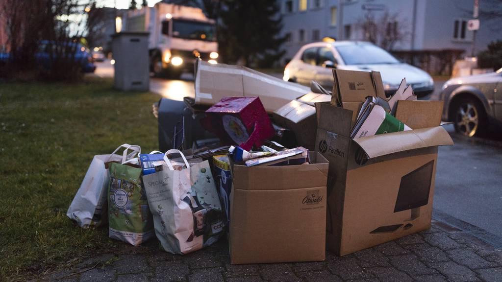 In Winterthur herrscht Karton-Chaos