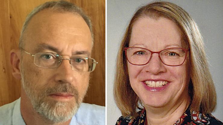 Die zwei Anwärter für den freien Sitz in der Bezirkskirchenpflege: Christophe Banderet und Daniela Frieden.