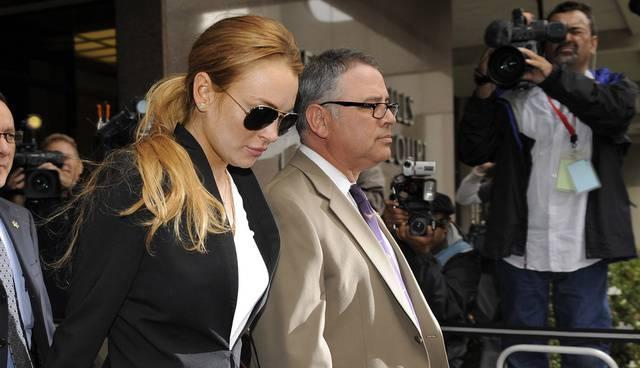 US-Schauspielerin Lohan bei einem ihrer Gänge zum Gericht