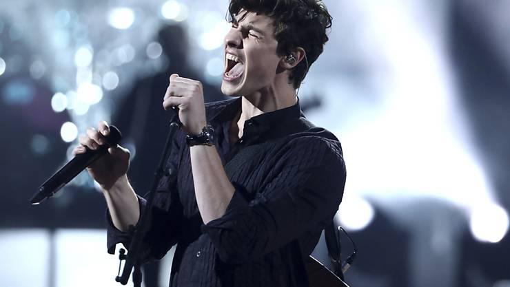 Holt sich neue Ideen für Songs im Fitnessstudio: der kanadische Sänger Shawn Mendes. (Archivbild)