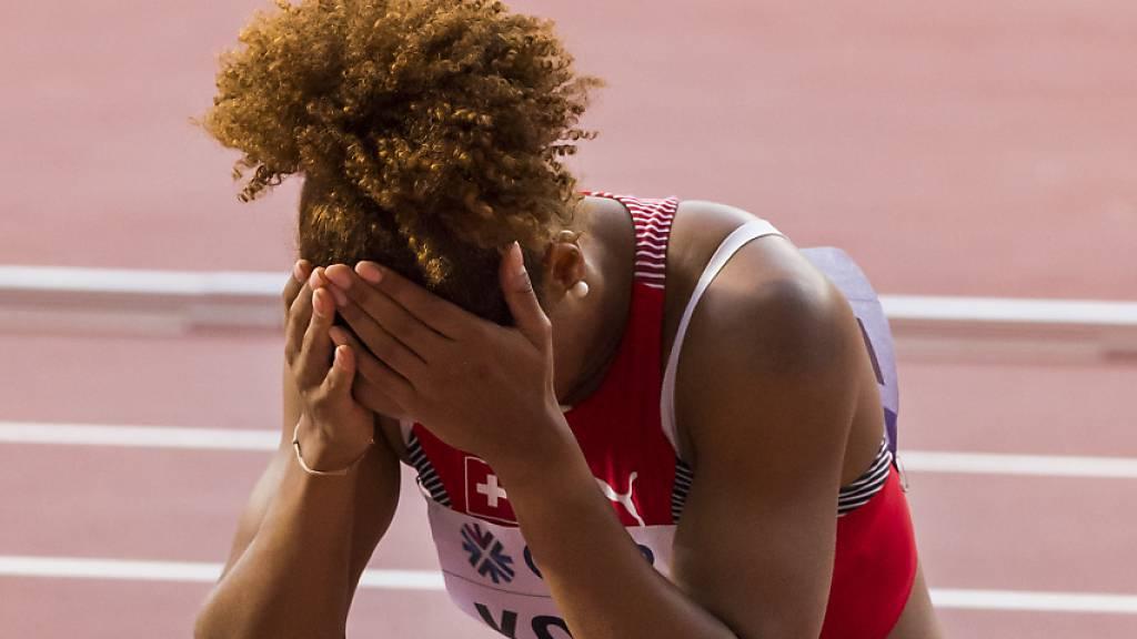 Salomé Kora ärgert sich über den Fehler beim Wechsel. (Archivaufnahme)