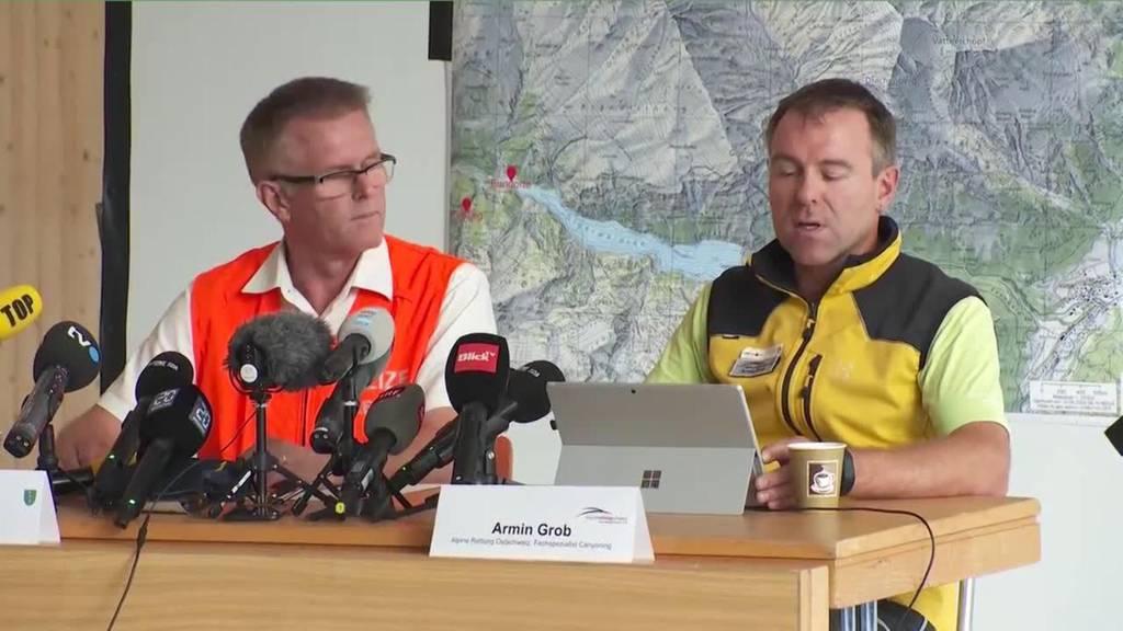 Komplette Pressekonferenz zum Canyoning-Unglück in Vättis (SG)