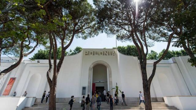Aussenansicht des Pavillons Polens an der Biennale in Venedig