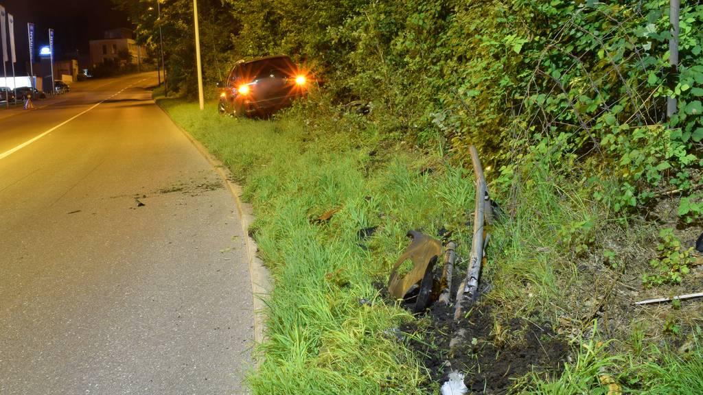 Mit 1,6 Promille Auto geschrottet – niemand verletzt