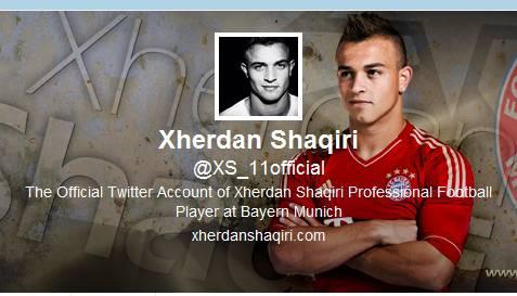 Er ist ein Twitter-Neuling. Erst seit dem 3. Januar zwitschert der FC-Bayern-München-Star Xherdan Shaqiri - den ersten Tweet verschickte er aus dem Trainingslager in Doha. Zwar hat er bis jetzt kaum 30 Tweets versendet und deren Inhalte sind nicht immer wahnsinnig aufschlussreich (Kostprobe: Happy birthday Muhammad Ali.... The greatest...:-)) ), doch bereits hat der talentierteste Schweizer Fussballer über 4800 Follower. Damit dürfte er der erfolgreichste Schweizer Fussballer sein - auf Twitter natürlich.