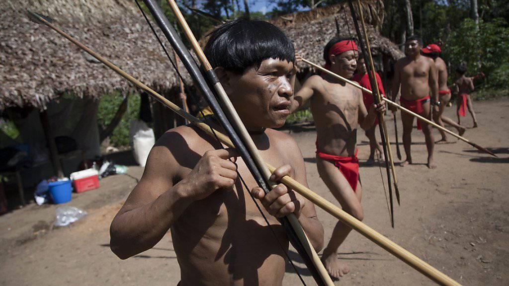 Angehörige des Yanomami-Volkes im Amazonas-Gebiet: Ureinwohner haben sechs Goldsucher mit Pfeilen getötet. (Symbolbild)