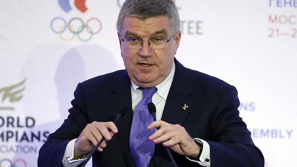 IOC-Präsident Thomas Bach ist jetzt gefordert