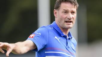 Der Schweizer U17-Coach Stefan Marini will mit seinen Jungs an der EM in England hoch hinaus