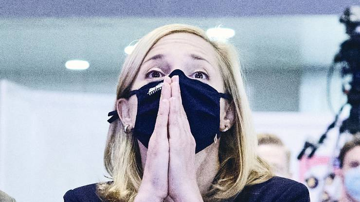 Esther Keller (GLP) beim ersten Wahlgang am 25. Oktober 2020.