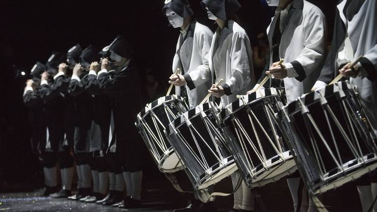 Basel 19.02.2017 - Generalprobe Drummeli im Musical-Theater. Sans Gene / Elfer. Foto Roland Schmid