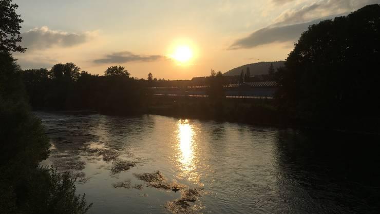 Abendstimmung beim Velofahren in Unterengstringen. Aufnahme Samstag 24.6.17