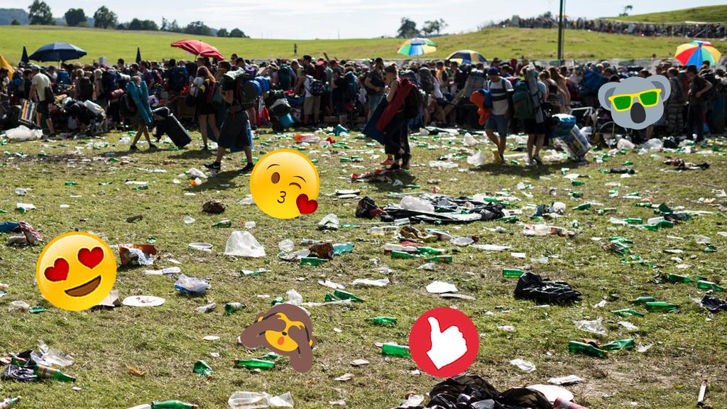 30-Jähriger häkelt aus zurückgelassenen Openair-Zelten Taschen