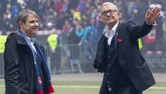 FCB-Präsident Bernhard Burgener und CEO Roland Heri geben im Lohnverzichtsstreit mit den Spielern aktuell kein gutes Bild ab.