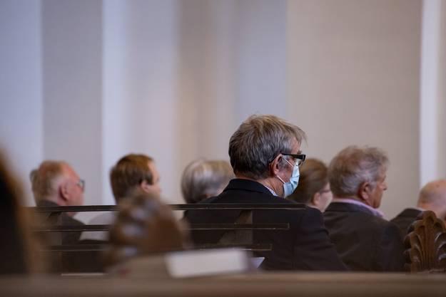 Unter den Gottesdienstbesuchern in Olten gab es auch Schutzmaskenträger.