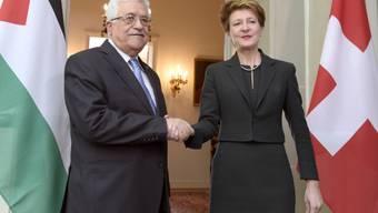 Bundespräsidentin Simonetta Sommaruga empfängt Mahmud Abbas