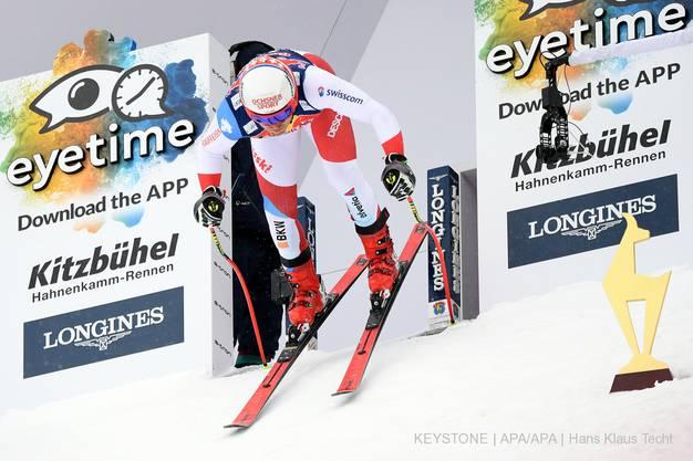Doch spätestens nach dem Verlassen des Starthauses machen sich Feuz und Co. auf den Weg zum grössten Nervenkitzel im alpinen Skirennsport.