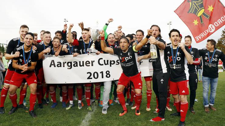Der FC Klingnau feierte vor einem Jahr den Cupsieg.