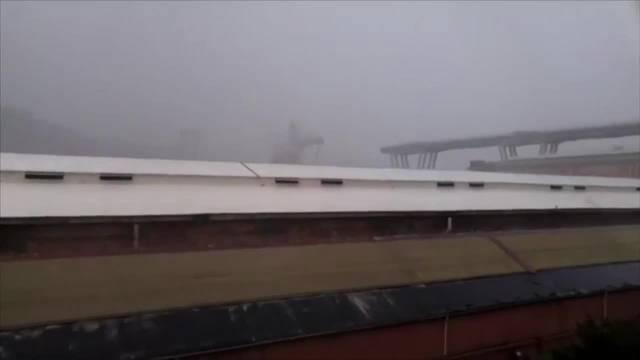 Genua: Hier stürzt die Autobahnbrücke ein (14. August 2018)