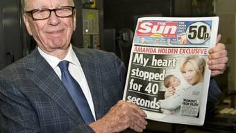 Rupert Murdoch präsentiert die neue Sonntagszeitung