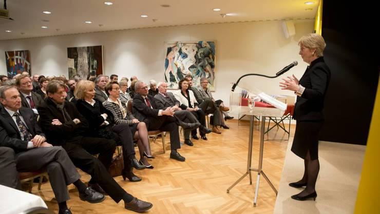 Sprach 2013 im Rahmen der Akademie der Generationen: Carla del Ponte.