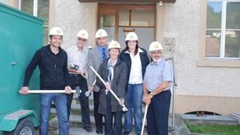 Bau-Team: Markus Vögeli, Robert Keller, Peter Weber, Erika Essig, Priska Meyer und Urlich Jehle.