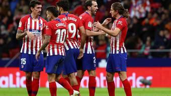 Nach der schweren Niederlage in der Champions League rehabilitiert sich Atlético mit einem Sieg in der Liga