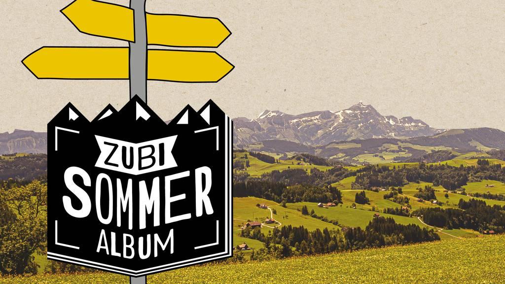 Mit dem Stickeralbum auf die Wanderung