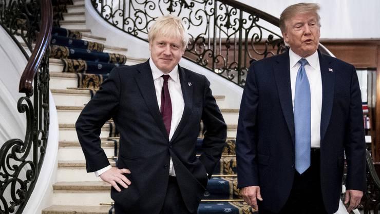 Boris Johnson und Donald Trump am G7-Gipfel in Biarritz im August. (Bild: AP)