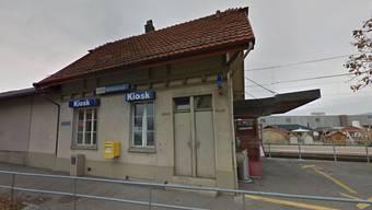 Der Kiosk am Bahnhof Gontenschwil.