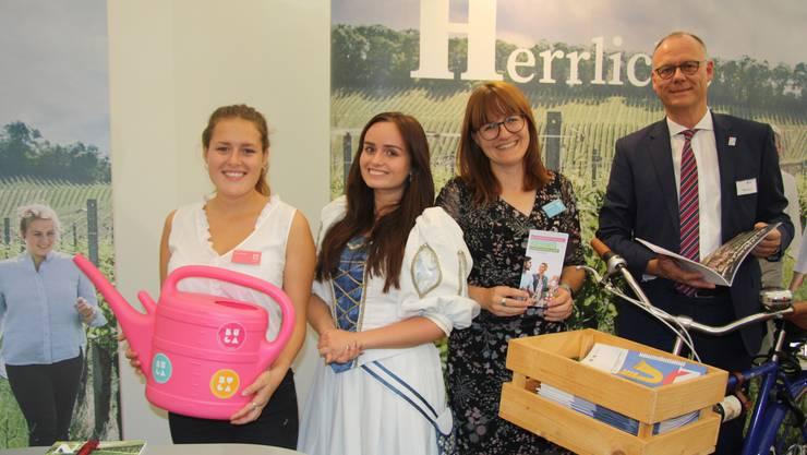 An der HESO 2018 war Heilbronn mit einem Stand präsdent und warb für die Gartenschau. (Archiv)