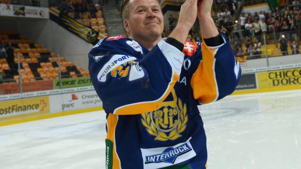 Petteri Nummelin (ex-Davos und Lugano) bei seinem Abschiedsspiel für Lugano in der Resega vor gut fünf Jahren