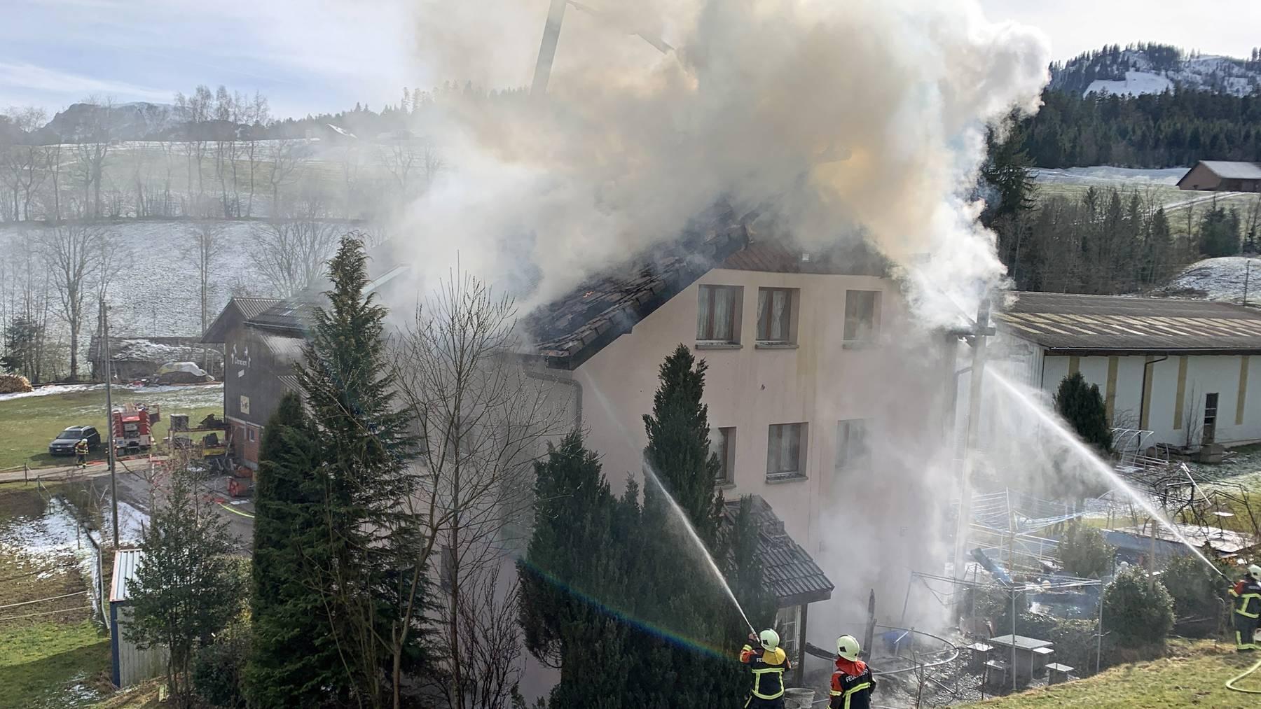 Wohnhaus in Hasle gerät in Brand