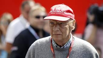 Niki Lauda Anfang Juli beim Formel-1-Rennen in Silverstone