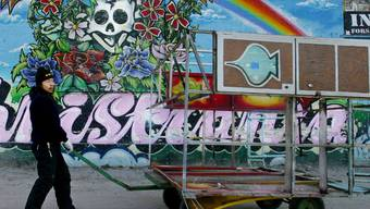Bunter Freistaat: Szene in Christiania (Archiv)