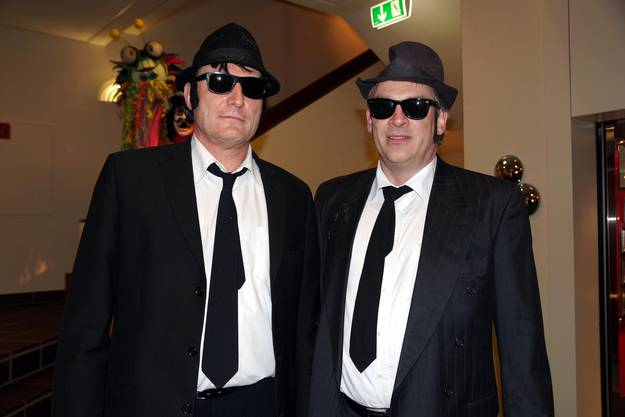 Die Blues Brothers am Maskenball in Baden Quelle ubu