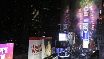 Das traditionelle Feuerwerk am New Yorker Times Square.