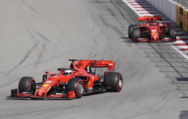 Die Ferrari-Piloten sind Charles Leclerc (22, Monaco) und Sebastian Vettel (32, Deutschland) in seiner letzten Ferrari-Saison.
