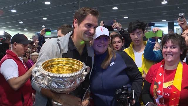 Grosser Empfang für Roger Federer