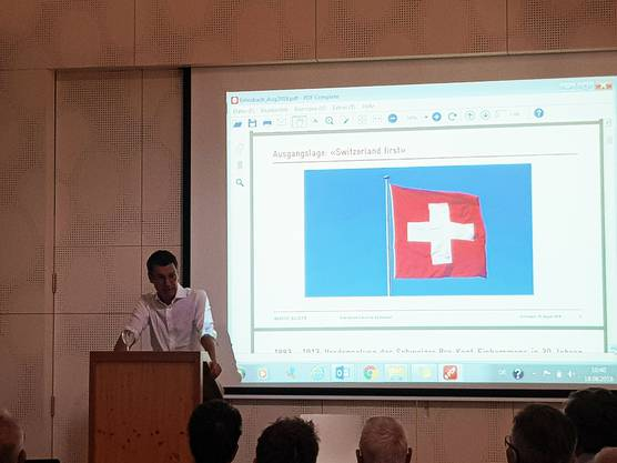 """Referat zum Thema """"Eine liberale Zukunft für die Schweiz?"""""""