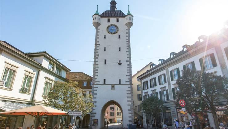Wahrzeichen: Der Badener Stadtturm.