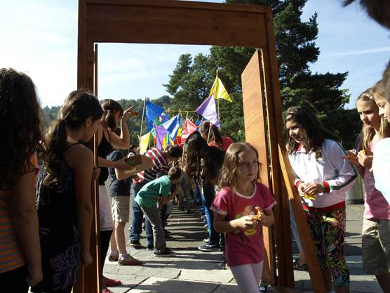 Die Schule hat bereits am Montag begonnen - jetzt wurden die Neuen feierlich aufgenommen.