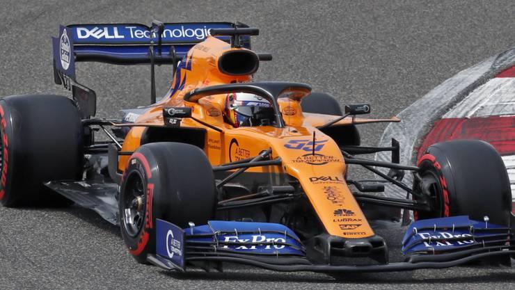 McLaren, im Bild Carlos Sainz, reagiert auf die Coronavirus-Pandemie