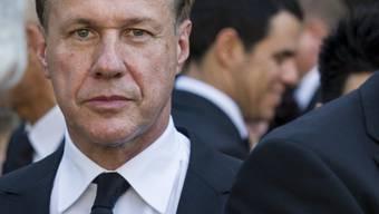 Martin Senn an der Abdankungsfeier für den damaligen Zurich-Finanzchef Pierre Vauthier im September 2013: Jetzt sind bereits zwei Top Kader der Zurich Versicherungen freiwillig aus dem Leben geschieden. (Archivbild)