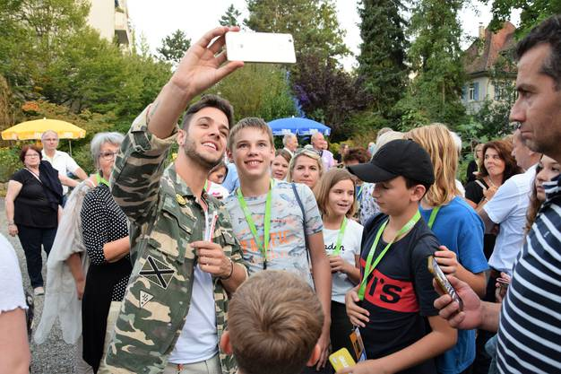 VIP-Apéro mit Luca Hänni, Christian Polanc und Christa Rigozzi.
