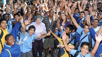 Jay-Z umjubelt von der australischen Schulklasse
