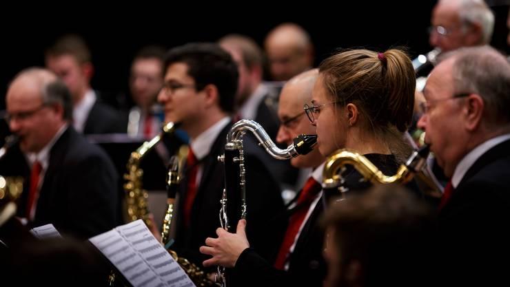 Das Blasorchester Gebenstorf beglückte das Publikum zum Jahresauftakt mit seiner Darbietung.